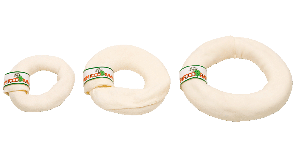 3 different sizes of a donut bones
