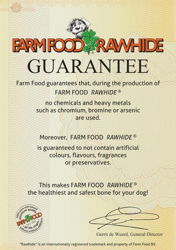 Guarantee certificate Farm Food Rawhide