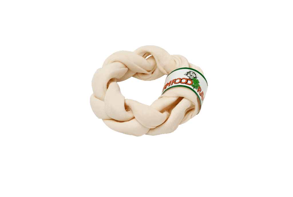 Farm Food Rawhide Braided Donut L