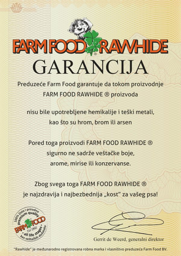 Farm Food Rawhide GARANCIJA - SRB